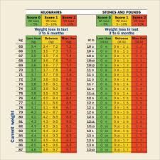 Body Temperature Chart Nhs Sample Weight Loss Chart 7 Documents In Pdf