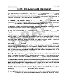 free lease agreement word doc nc lease agreement free north carolina residential lease agreement