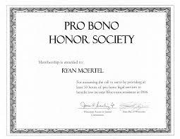 Attorney Ryan Moertel Earns Wisconsin Pro Bono Honor Society