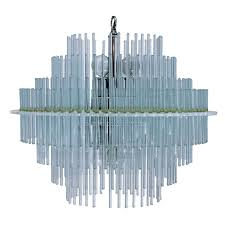 three tier glass rod chandelier for
