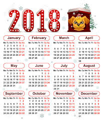 Chinese Calendar Template 2018 Year Of Yellow Dog In Chinese Calendar Vector Template