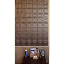 dimensions faux 2 ft x 4 ft tin style ceiling and wall tiles in bronze