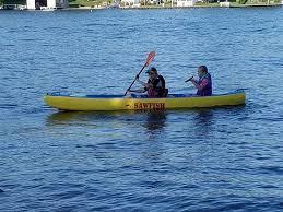 picture of sawfish an unsinkable lightweight foam kayak 23 lbs