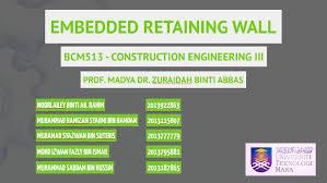 embedded retaining wall by syazwan