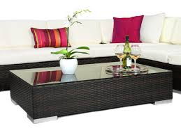 Small Round Rattan Table Furniture Table Rustic Wood Material Round Coffee Table With Layer