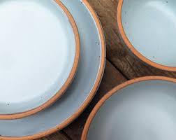 handmade stoneware dinner sets uk. custom noe dinnerware set in bay fog // pale blue glaze grey- made to handmade stoneware dinner sets uk
