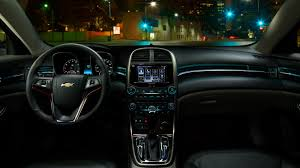 A Jet Black interior with ambient lighting and Chevrolet #MyLink ...