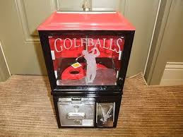 Golf Ball Vending Machine Custom Vintage Golf Ball Vending Machine 48 Cent Etched Glass With 48 Used