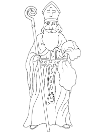 Small Picture St Nicholas Coloring Page Christmasho ho ho Pinterest
