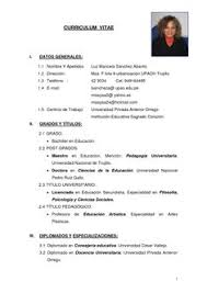 Curriculum Vitae Word Para Completar Modelos De En Guillermo