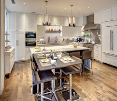 traditional contemporary kitchens. Contemporary Kitchen With White Cabinetry And Metal Accents Traditional Kitchens L