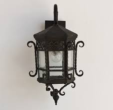 spanish outdoor exterior wrought iron light fixture lightbox moreview