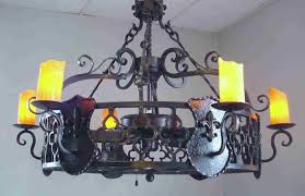 black wrought iron ceiling fan with light ceiling lights