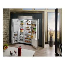 kitchenaid 48 29 5 cu ft built in side by side refrigerator