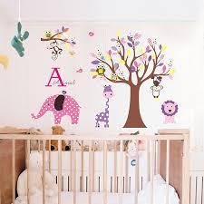 animal jungle wall stickers kids room