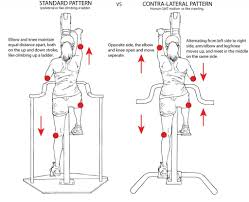 contra lateral versaclimber contra pattern