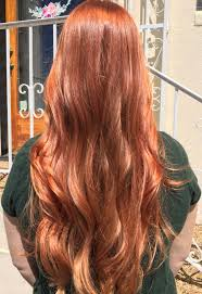Light Copper Red Hair Copper Red Gold Blonde Balayage With Rosegold In Sunlight