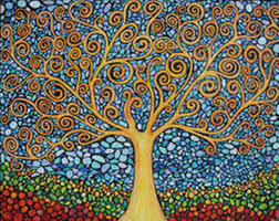 abstract tree of life painting wallpaperhdc com