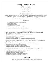 Bunch Ideas of Sample Resume For Subway Sandwich Artist Also Format