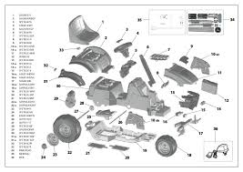 peg perégo john deere e tractor manuals and parts list peg parts schematic and parts list