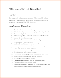 Medical Office Assistant Job Description For Resume Office Clerk Resume Assistant Skills Sample Templates Automation 58