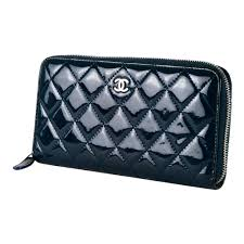 chanel zipper wallet. shop authentic chanel wallets online india my luxury bargain chanel blue quilted patent leather zip around zipper wallet w