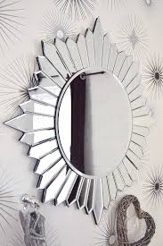 Small Picture Large Modern Round Sun Design Venetian All Glass Wall Mirror 2Ft8