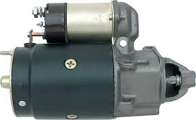 tri five chevy parts electrical and wiring starters 1955 82 remanufactured starter 2 bolt staggered mount iron nose