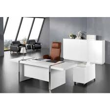large white office desk. 2.4m Wide Large Gloss White Executive Office Desk With Drawer Pedestal And Side Return DES N