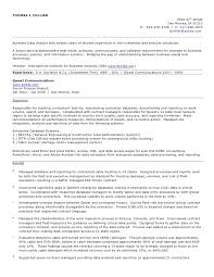 Tj Collier Resume 2010 Business Analyst