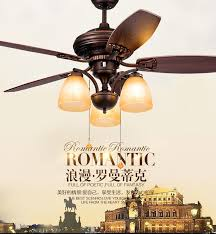 2019 american rustic retro fan chandelier fan lights living room dining room bedroom wooden leaf chandelier fans with remote control from luohuisi