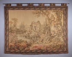 large flemish tapestry wall hanging c 1950