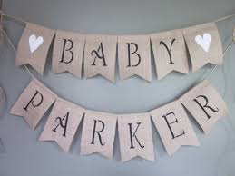 All Things Beautiful Banners And Buntings InspirationBaby Shower Burlap Banner