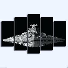 5 piece canvas wall art set star wars imperial star destroyer 5 piece canvas wall art