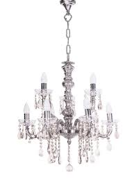 sz silver 9 light brass crystal chandelier