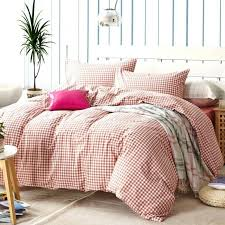 um image for red plaid duvet cover sets for single or double bed 100 cotton bedcover