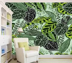 3d Kamer Behang Custom Photo Non Woven Mural Regen Bos Palm Banana