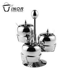 Decorative Spice Jars Top Quality Safe Metal Apple Shape Decorative Spice Jars With 87