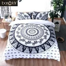 indian style bedding sets bed sheets black and white color bedding set elephant print bed linen bohemian style duvet indian style bedding sets uk