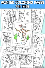 The kids are going fast down the slope, so ask your child to color them quickly. Winter Coloring Pages Itsybitsyfun Com