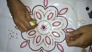 Design With Broken Bangles Old Bangles Kundan Rangoli Reuse Your Bangles For Rangoli