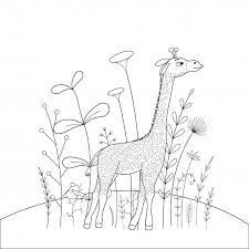子供の塗り絵の動物 ベクター画像 プレミアムダウンロード