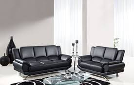 Interesting Modern Leather Sofa Black W Chrome Legs A Throughout Design Decorating