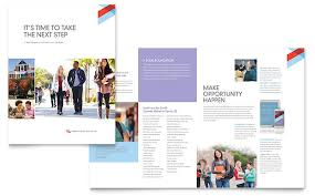 Microsoft Web Page Templates Community College Brochure Template Word Publisher
