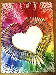 Cool Art Really Cool Art Ideas 1 Heart Melted Crayon Art Art Ideas For