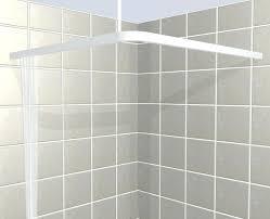 l shaped shower curtain rod square croydex luxury
