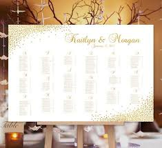 Wedding Seat Chart Poster Wedding Seating Chart Poster Confetti Gold Print Ready Digital File