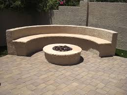 Fire Pits Stone Fire Pit And Bench Gemini 2 Landscape Construction Stone Benches With Backs