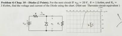 Diode Equivalent Chart Solved For The Next Circuit If V_ss 20 V R 1 Kohm A