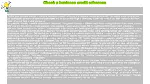 How To Check Credit References For Business How To Check A Business Credit Reference Youtube